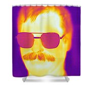 Thermogram Of A Man Shower Curtain