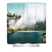 Yellowstone Park: Geyser Shower Curtain
