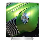 40 Ford - Front Driver Angle-8665 Shower Curtain