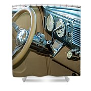 40 Ford Coupe Dash Shower Curtain