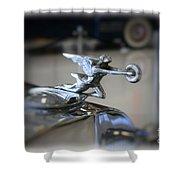 41 Packard Hood Ornament Shower Curtain
