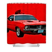 440 Charger Shower Curtain