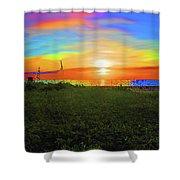 49- Electric Sunrise Shower Curtain