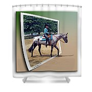 4h Horse Competition Shower Curtain