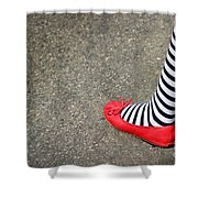 4th July Foot Shower Curtain