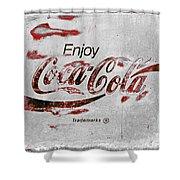 Coca Cola Sign Grungy Retro Style Shower Curtain