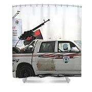 A Free Libyan Army Pickup Truck Shower Curtain