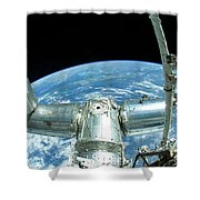 A Portion Of The International Space Shower Curtain