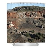Abandoned Manganese Mine At Cape Vani Shower Curtain