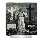Angel Shower Curtain by Joana Kruse