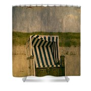 Beach Chair Shower Curtain