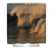 Breaking Surf At Sunset In La Jolla Shower Curtain