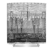 Brooklyn Bridge, 1870 Shower Curtain