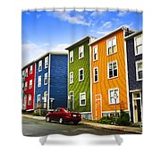 Colorful Houses In St. John's Newfoundland Shower Curtain