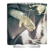 Crucifix Shower Curtain