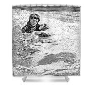 Dakota Blizzard, 1888 Shower Curtain