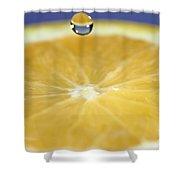 Drip Over An Orange Shower Curtain