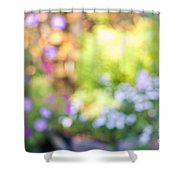 Flower Garden In Sunshine Shower Curtain