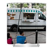 Food Trucks  Shower Curtain