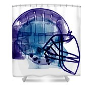 Football Helmet, X-ray Shower Curtain