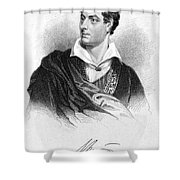 George Gordon Byron (1788-1824) Shower Curtain