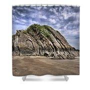 Goscar Rock Tenby Shower Curtain