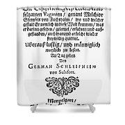 Hans Von Grimmelshausen Shower Curtain