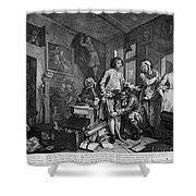 Hogarth: Rakes Progress Shower Curtain