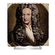 Isaac Newton, English Polymath Shower Curtain