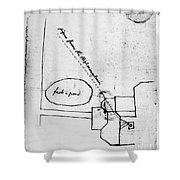 Jefferson: Monticello Shower Curtain