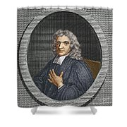 John Flamsteed, English Astronomer Shower Curtain