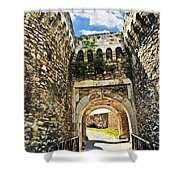 Kalemegdan Fortress In Belgrade Shower Curtain by Elena Elisseeva
