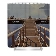 Lago Di Lugano Shower Curtain
