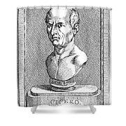 Marcus Tullius Cicero Shower Curtain