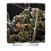 Members Of A Recce Or Scout Team Shower Curtain