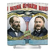 Presidential Campaign, 1880 Shower Curtain