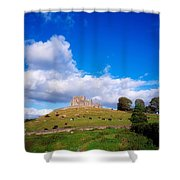 Rock Of Cashel, Co Tipperary, Ireland Shower Curtain
