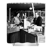 Silent Film Still: Stores Shower Curtain
