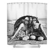 Silent Still: Beach Shower Curtain