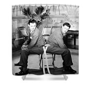 Silent Still: Two Men Shower Curtain by Granger