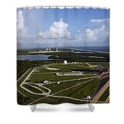 Space Shuttle Atlantis And Endeavour Shower Curtain