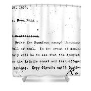 Spanish American War, 1898 Shower Curtain