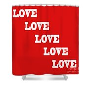 5 Steps Of Love Shower Curtain