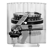 5-string On Glass Shower Curtain