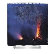 Stromboli Eruption, Aeolian Islands Shower Curtain