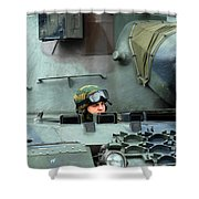 Tank Driver Of A Leopard 1a5 Mbt Shower Curtain