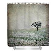 Textured Tree Shower Curtain