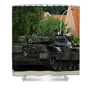 The Leopard 1a5 Mbt Of The Belgian Army Shower Curtain