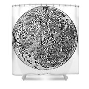 Verne: Earth To Moon Shower Curtain