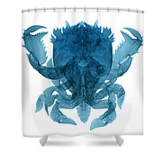 X-ray Of Deep Water Crab Shower Curtain